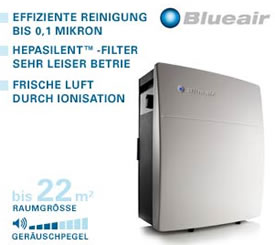 blueair luftreiniger mit hepa filter. Black Bedroom Furniture Sets. Home Design Ideas